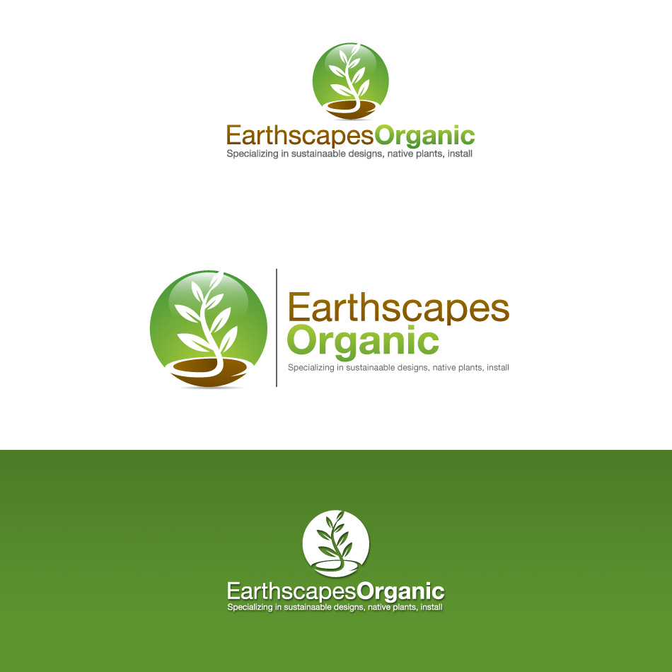 Logo Design by stevanga - Entry No. 79 in the Logo Design Contest Earthscapes Organic.