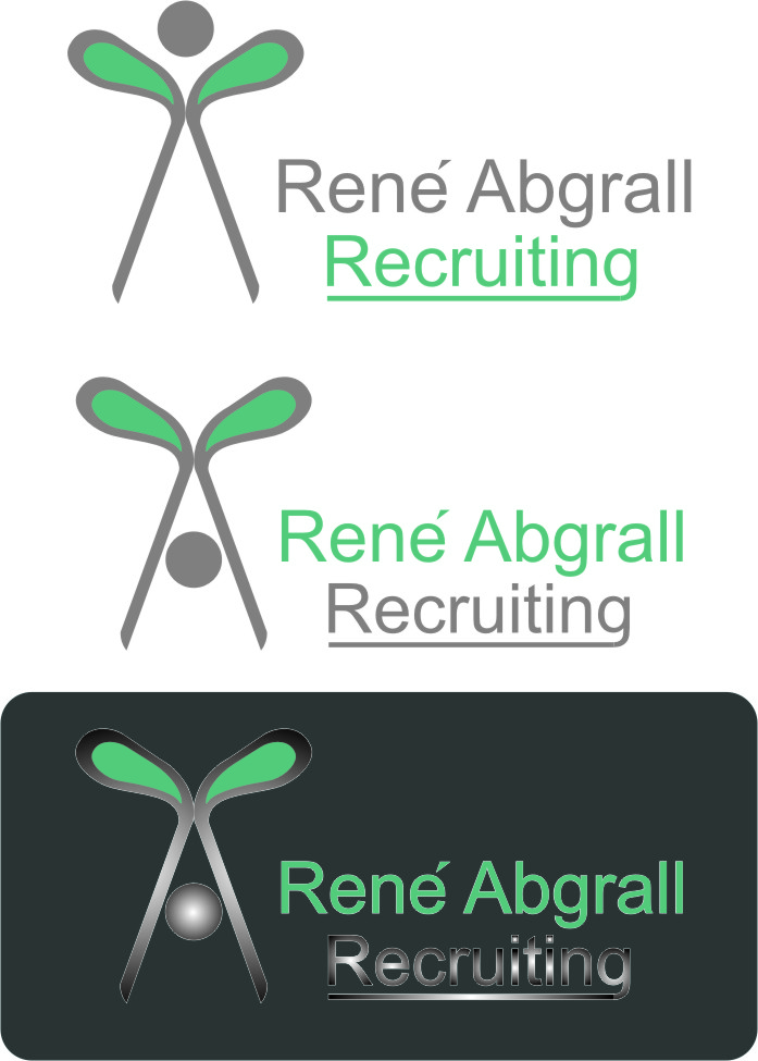 Logo Design by Korsunov Oleg - Entry No. 19 in the Logo Design Contest Artistic Logo Design for René Abgrall Recruiting.