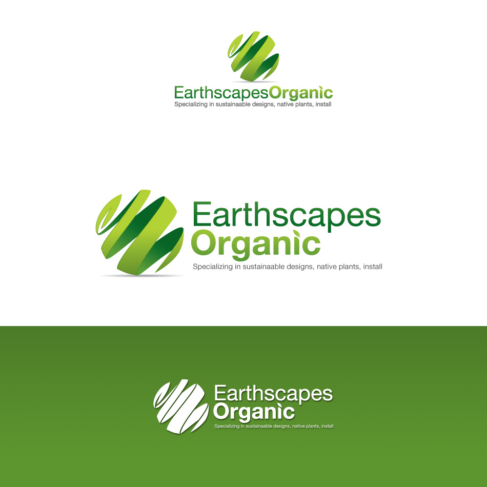 Logo Design by stevanga - Entry No. 80 in the Logo Design Contest Earthscapes Organic.