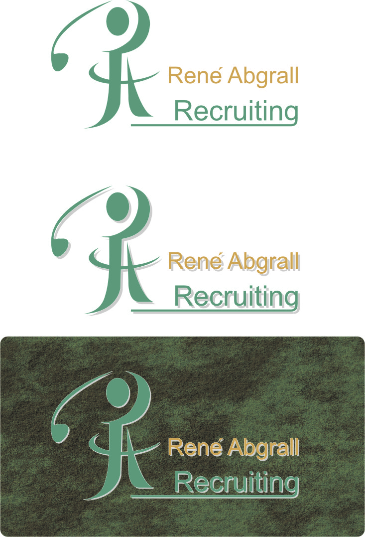 Logo Design by Korsunov Oleg - Entry No. 20 in the Logo Design Contest Artistic Logo Design for René Abgrall Recruiting.
