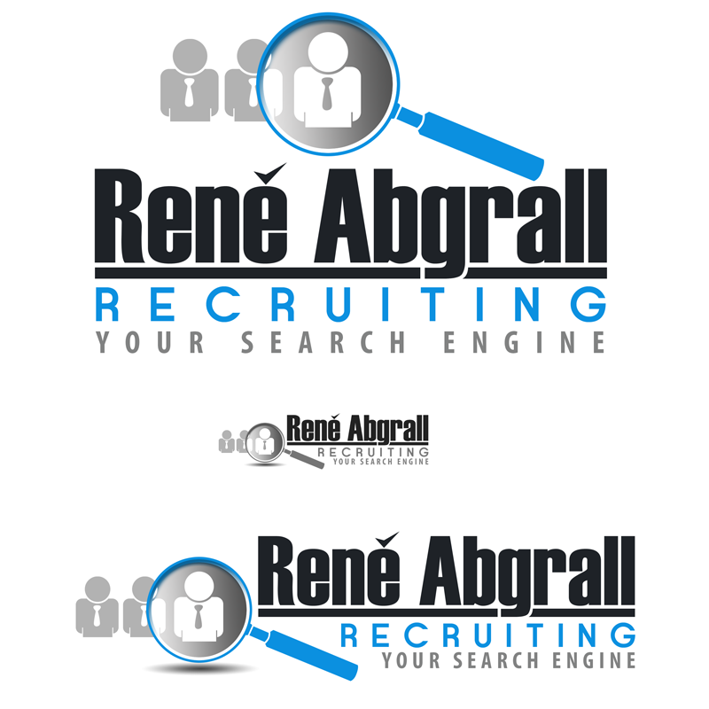 Logo Design by Robert Turla - Entry No. 22 in the Logo Design Contest Artistic Logo Design for René Abgrall Recruiting.