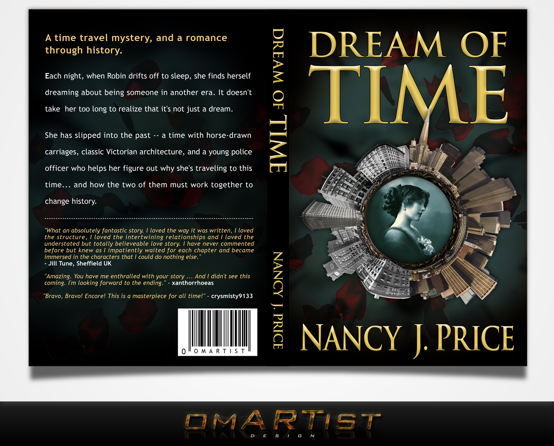 Book Cover Design by omARTist - Entry No. 33 in the Book Cover Design Contest Fun Book Cover Design for Dream of Time.