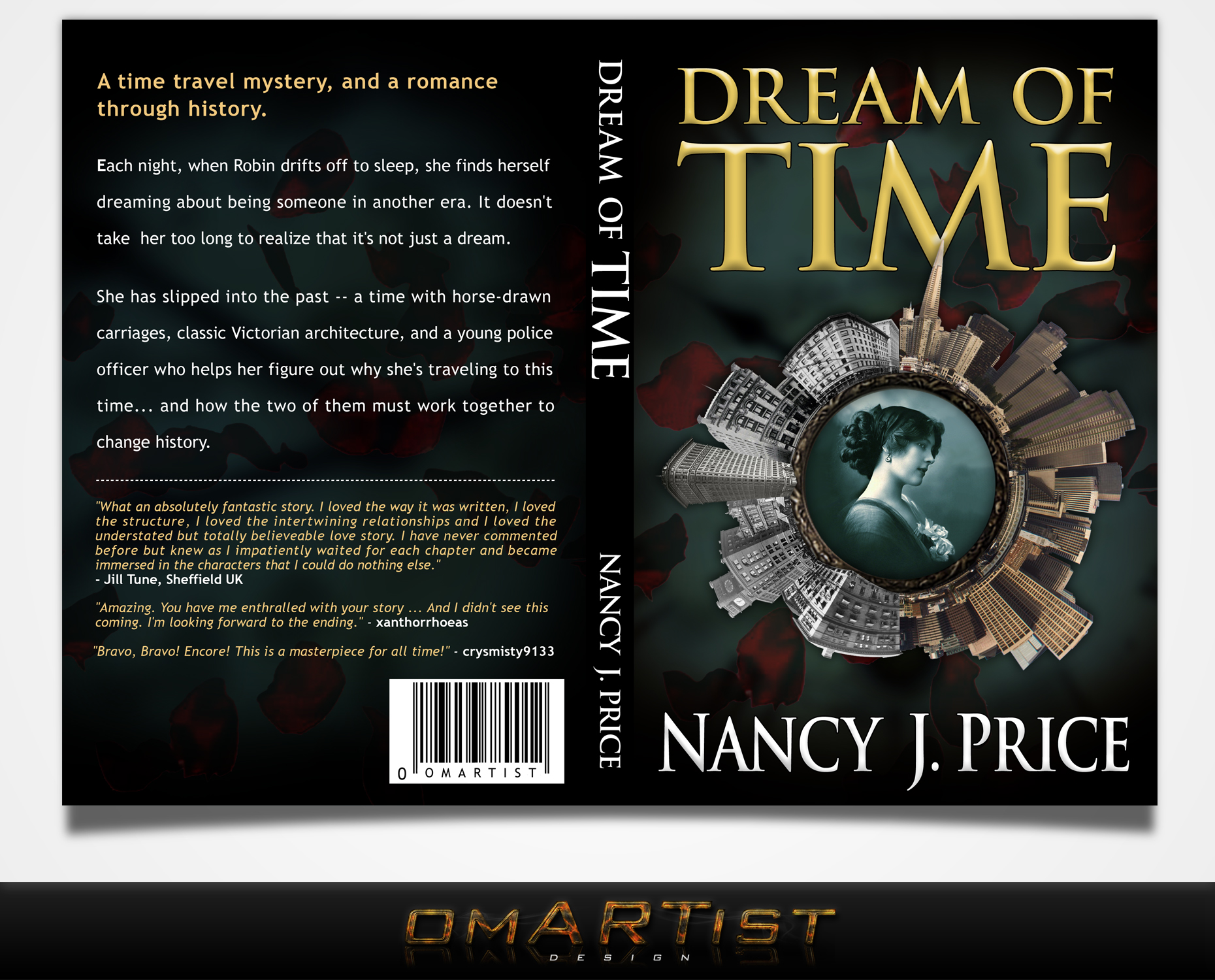 Book Cover Design by omARTist - Entry No. 34 in the Book Cover Design Contest Fun Book Cover Design for Dream of Time.