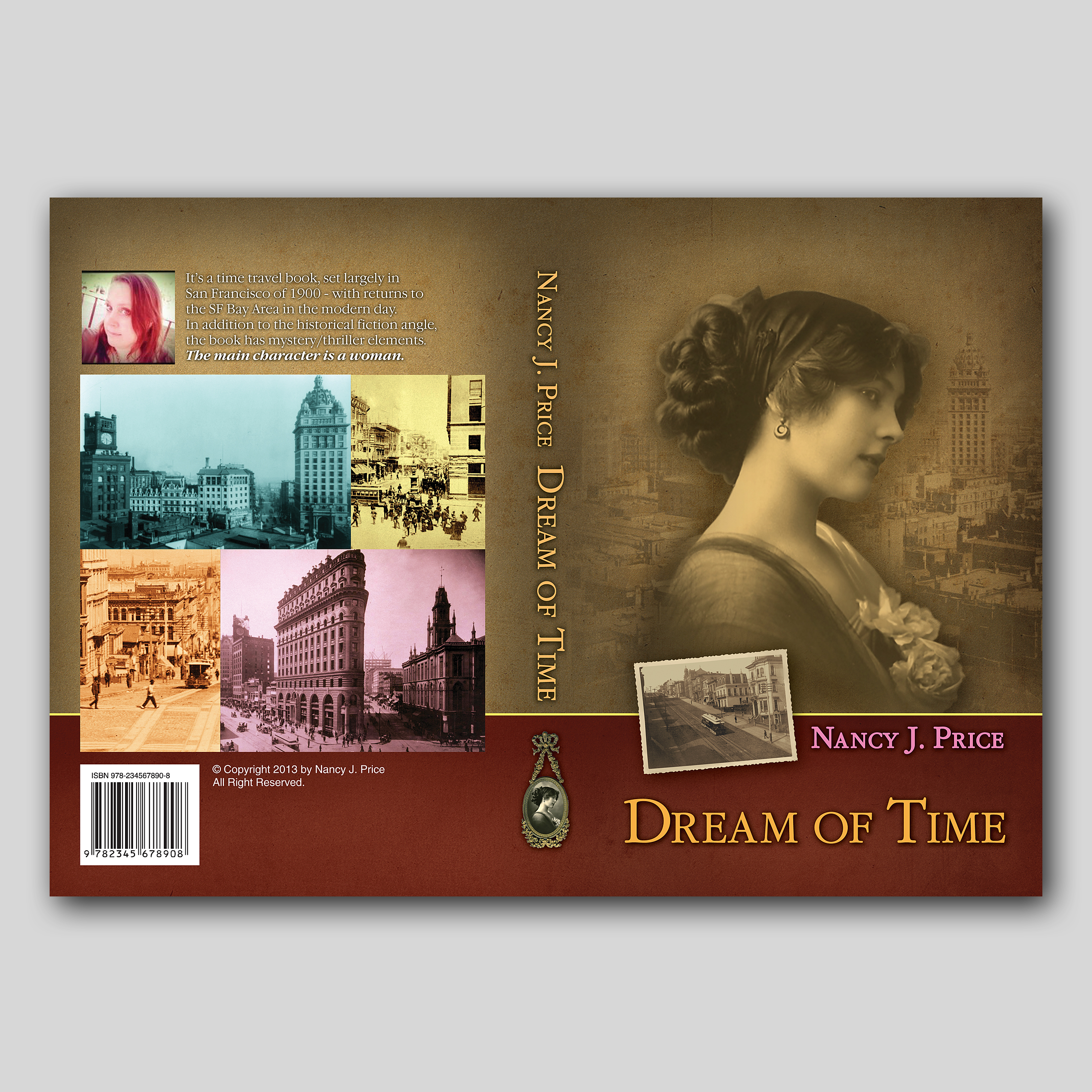 Book Cover Design by sokol25 - Entry No. 38 in the Book Cover Design Contest Fun Book Cover Design for Dream of Time.