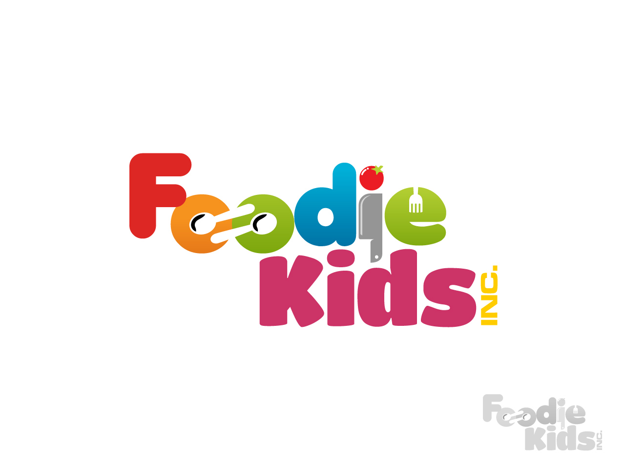 Logo Design by jpbituin - Entry No. 25 in the Logo Design Contest New Logo Design for Foodie Kids Inc..