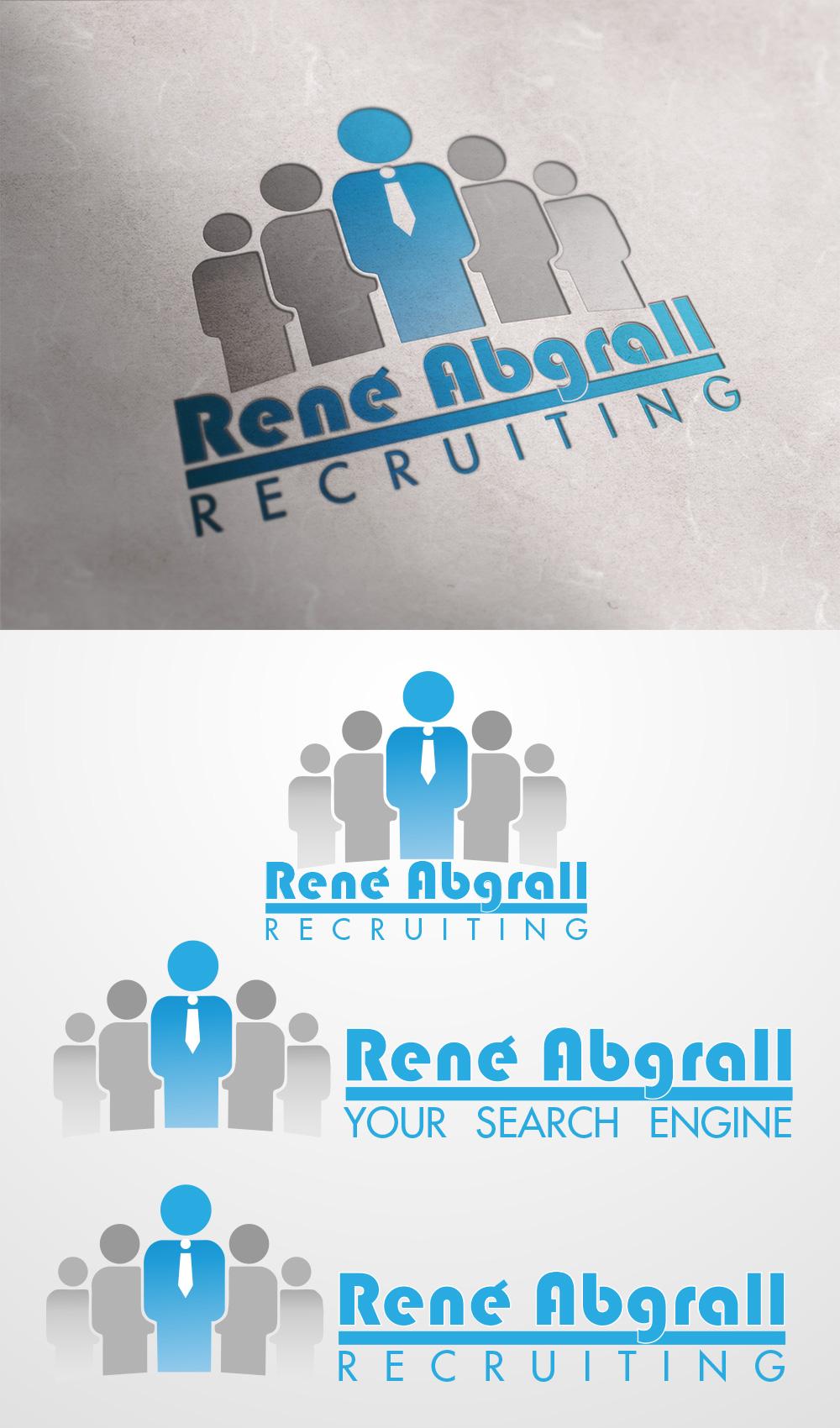 Logo Design by nrzv - Entry No. 26 in the Logo Design Contest Artistic Logo Design for René Abgrall Recruiting.
