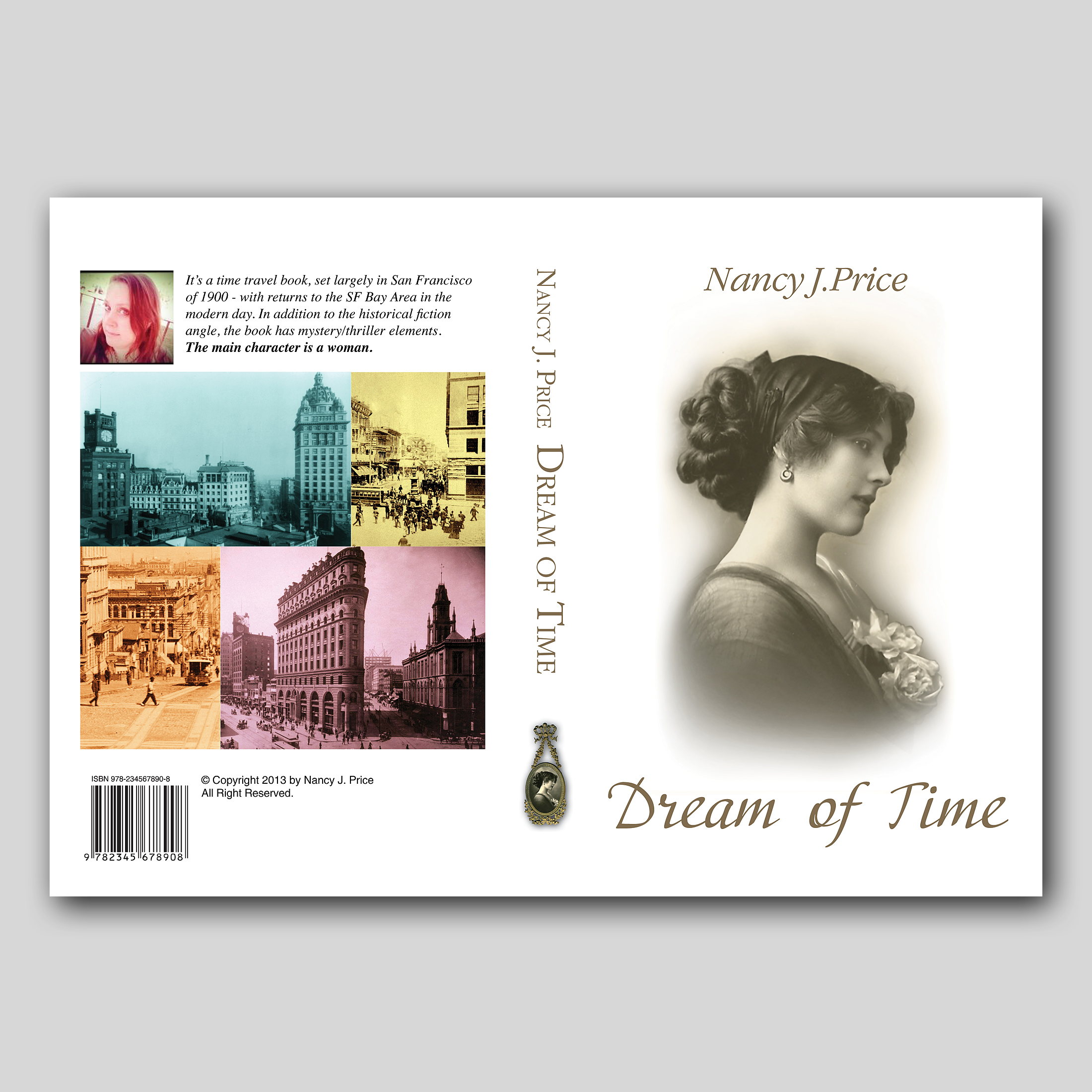 Book Cover Design by sokol25 - Entry No. 42 in the Book Cover Design Contest Fun Book Cover Design for Dream of Time.