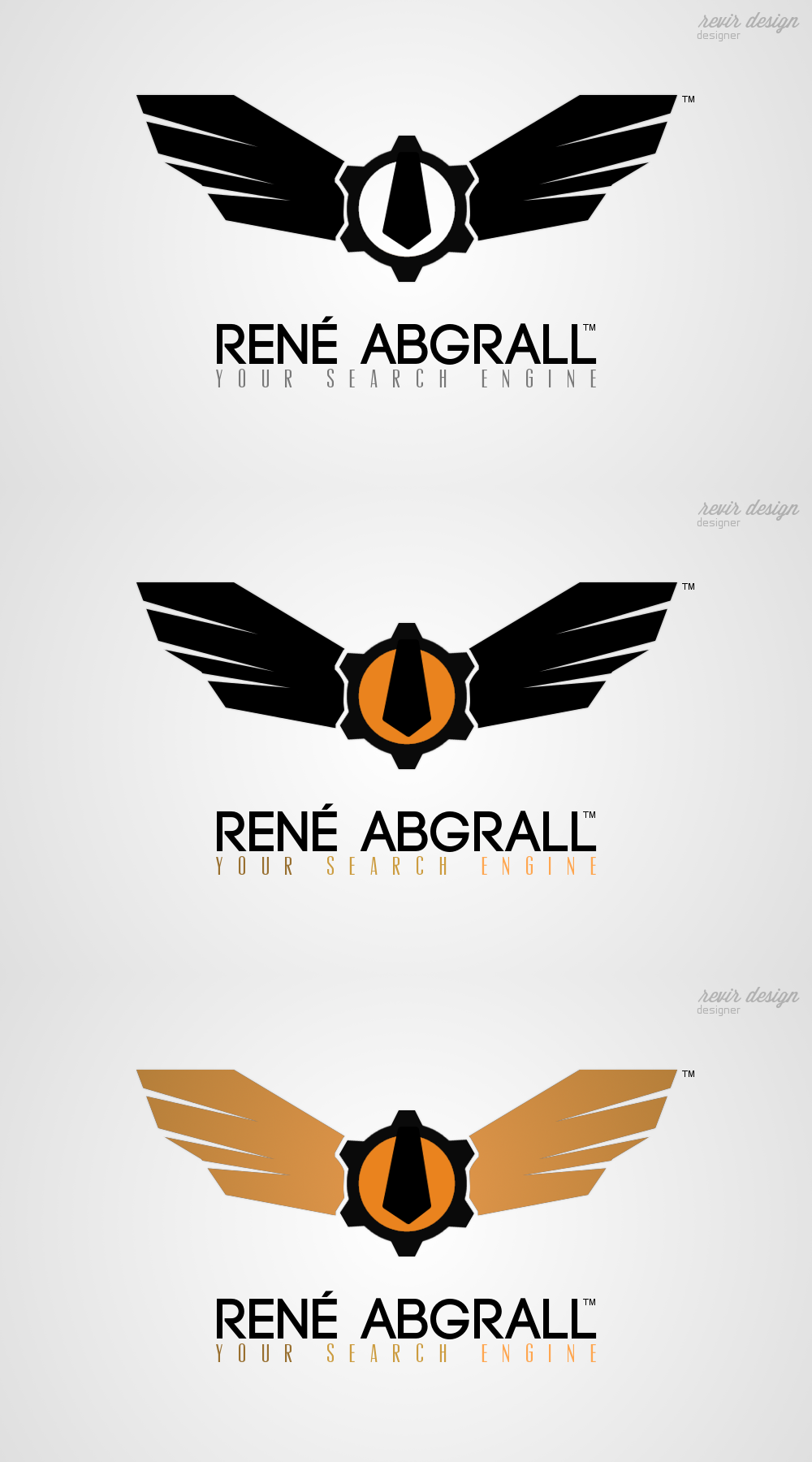 Logo Design by Gabriel Camacho - Entry No. 27 in the Logo Design Contest Artistic Logo Design for René Abgrall Recruiting.