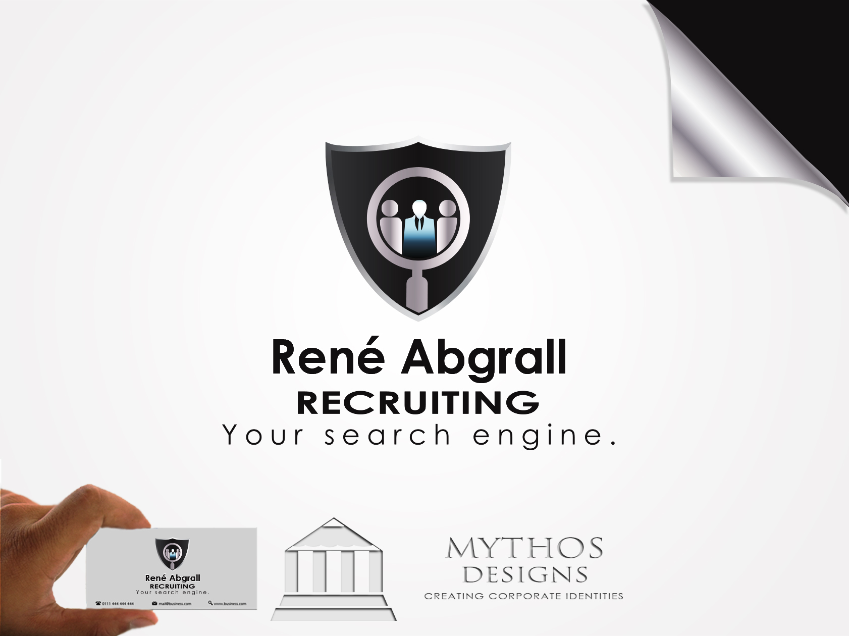Logo Design by Mythos Designs - Entry No. 33 in the Logo Design Contest Artistic Logo Design for René Abgrall Recruiting.