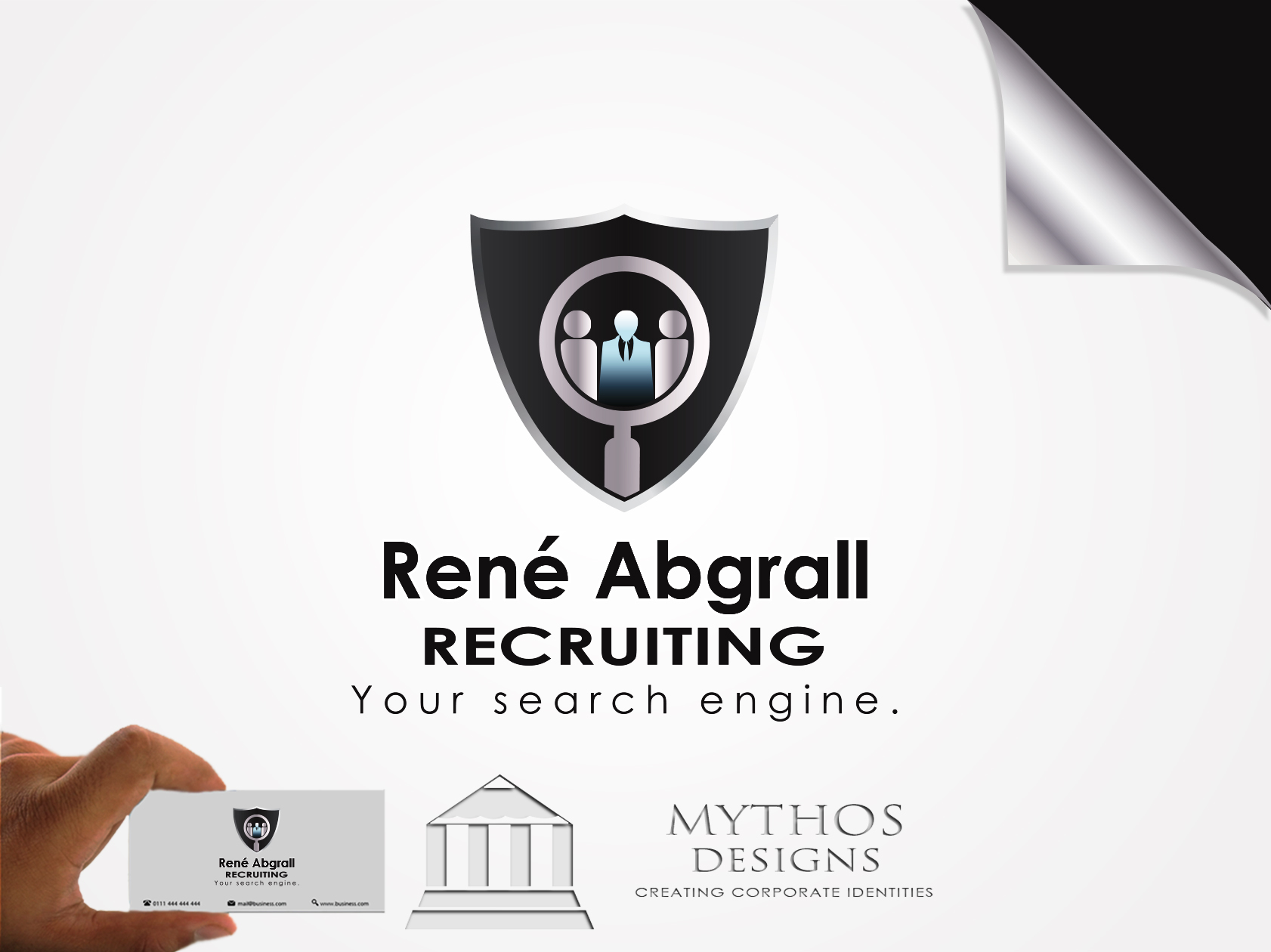 Logo Design by Mythos Designs - Entry No. 34 in the Logo Design Contest Artistic Logo Design for René Abgrall Recruiting.