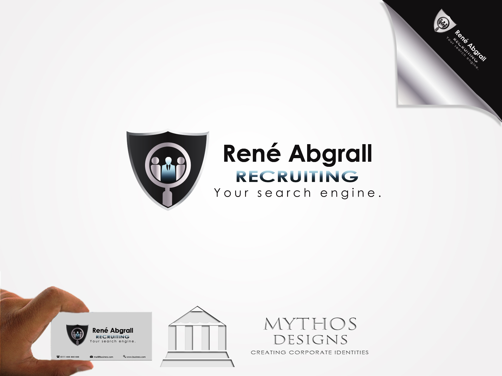 Logo Design by Mythos Designs - Entry No. 35 in the Logo Design Contest Artistic Logo Design for René Abgrall Recruiting.