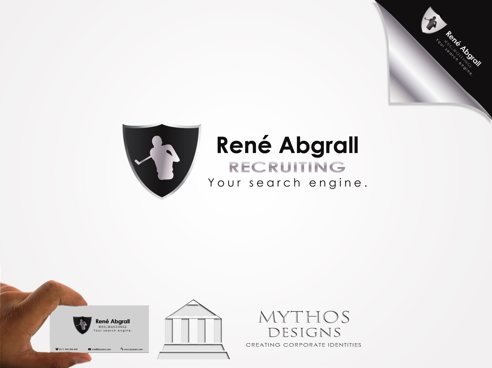 Logo Design by Mythos Designs - Entry No. 36 in the Logo Design Contest Artistic Logo Design for René Abgrall Recruiting.