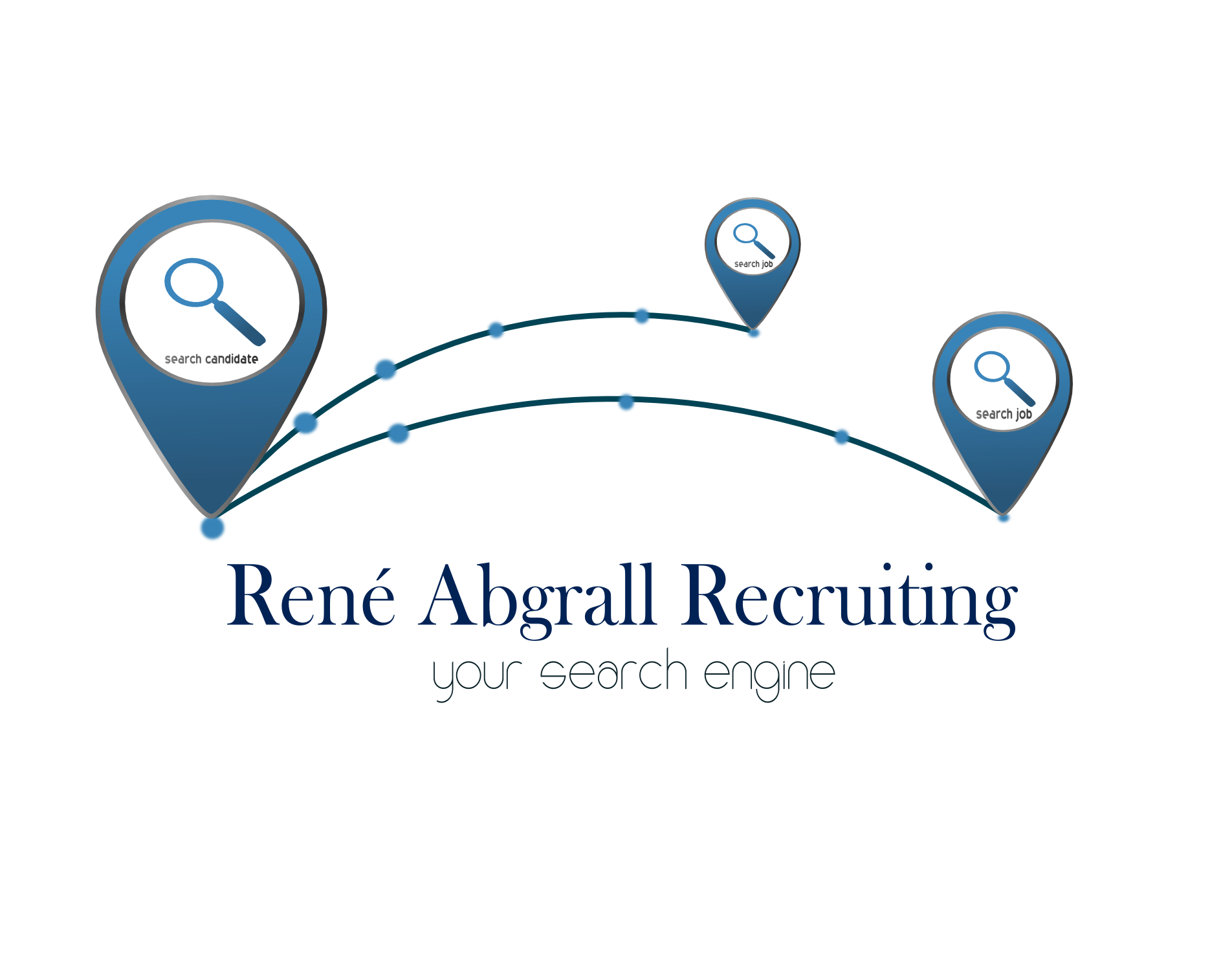 Logo Design by Arindam Khanda - Entry No. 39 in the Logo Design Contest Artistic Logo Design for René Abgrall Recruiting.