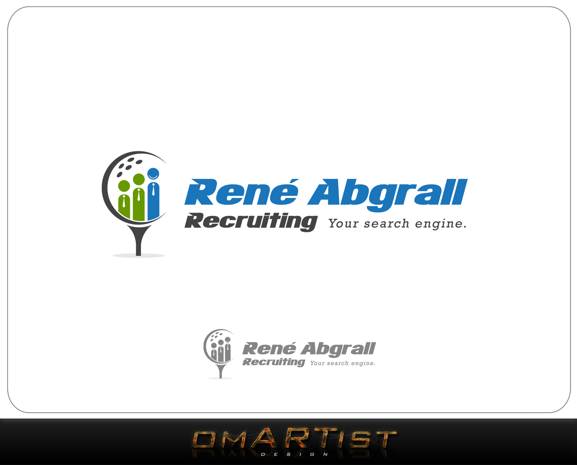 Logo Design by omARTist - Entry No. 41 in the Logo Design Contest Artistic Logo Design for René Abgrall Recruiting.