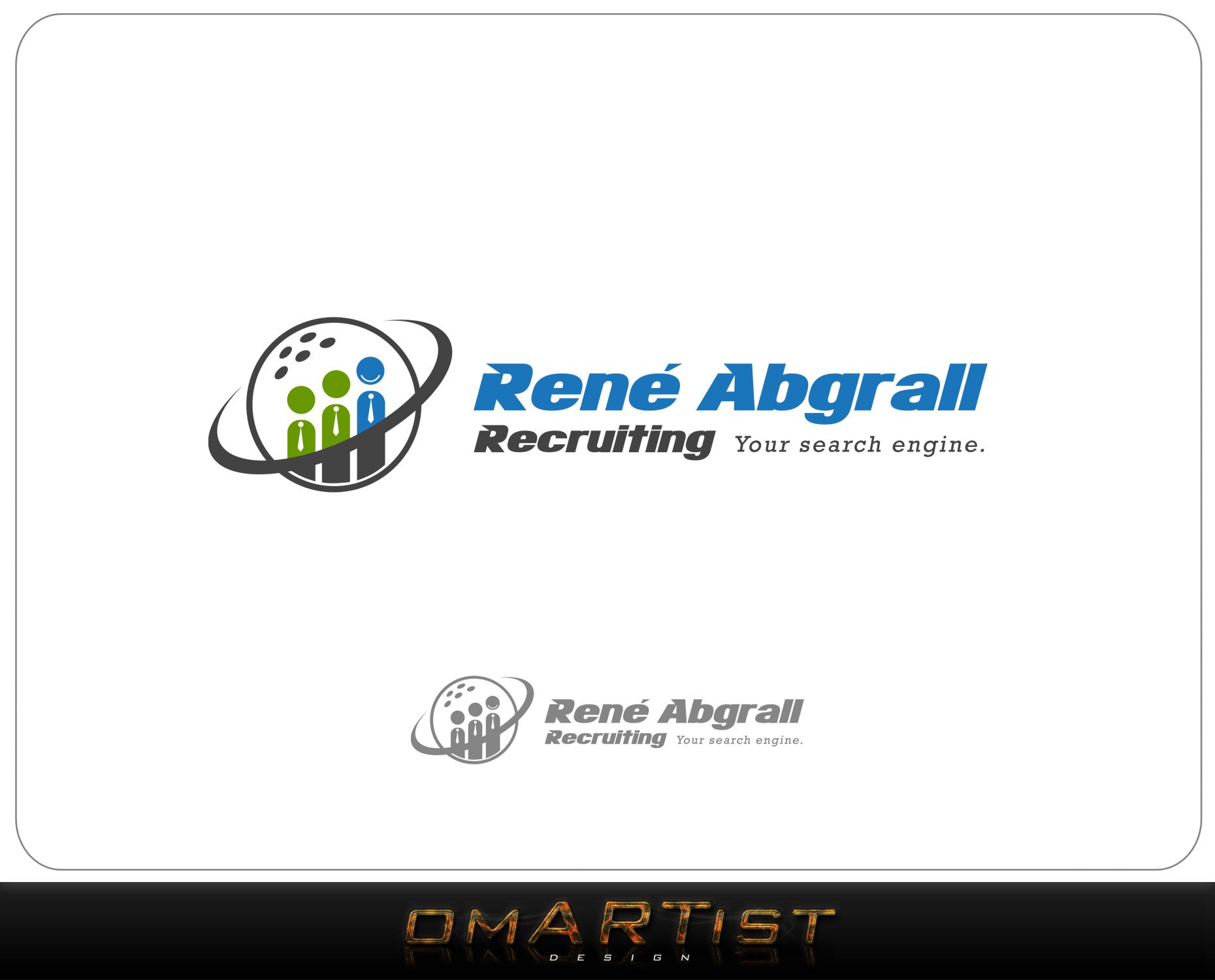 Logo Design by omARTist - Entry No. 42 in the Logo Design Contest Artistic Logo Design for René Abgrall Recruiting.