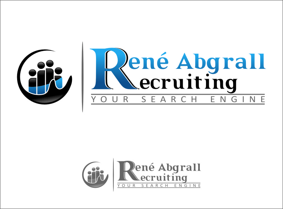 Logo Design by Ngepet_art - Entry No. 44 in the Logo Design Contest Artistic Logo Design for René Abgrall Recruiting.