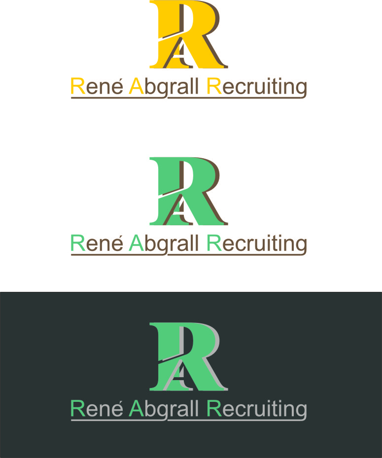 Logo Design by Korsunov Oleg - Entry No. 48 in the Logo Design Contest Artistic Logo Design for René Abgrall Recruiting.