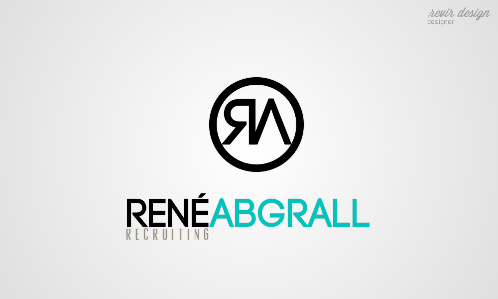 Logo Design by Gabriel Camacho - Entry No. 50 in the Logo Design Contest Artistic Logo Design for René Abgrall Recruiting.