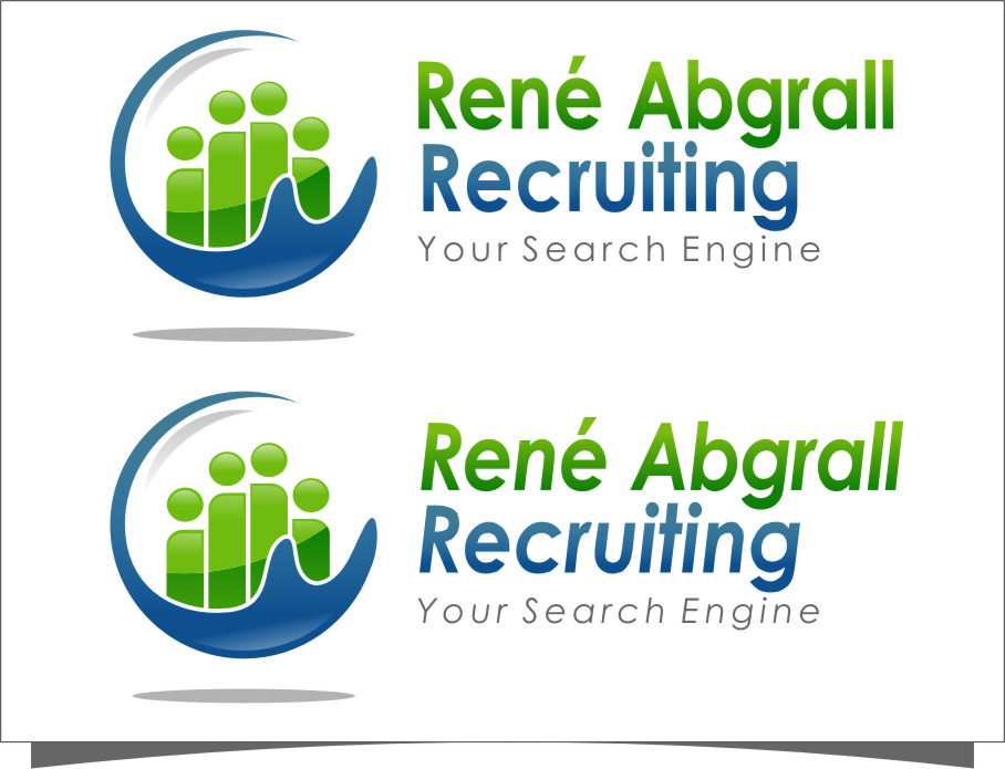 Logo Design by Ngepet_art - Entry No. 55 in the Logo Design Contest Artistic Logo Design for René Abgrall Recruiting.
