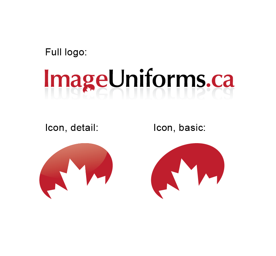 Logo Design by Christina Evans - Entry No. 6 in the Logo Design Contest Inspiring Logo Design for Image Uniforms Inc.