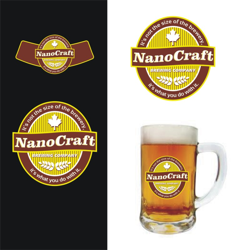 Logo Design by Private User - Entry No. 44 in the Logo Design Contest Unique Logo Design Wanted for NanoCraft Brewing Company.