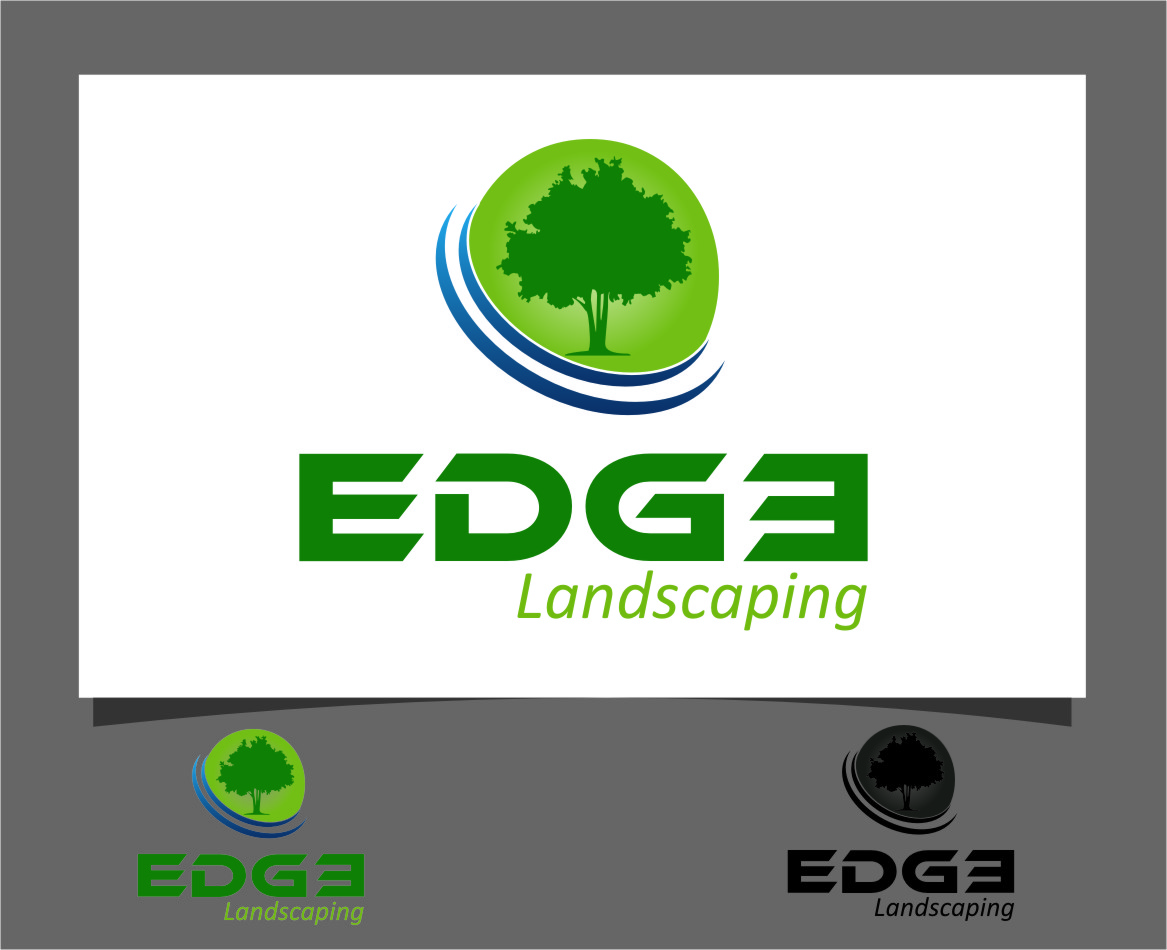 Logo Design by RasYa Muhammad Athaya - Entry No. 1 in the Logo Design Contest Inspiring Logo Design for Edge Landscaping.