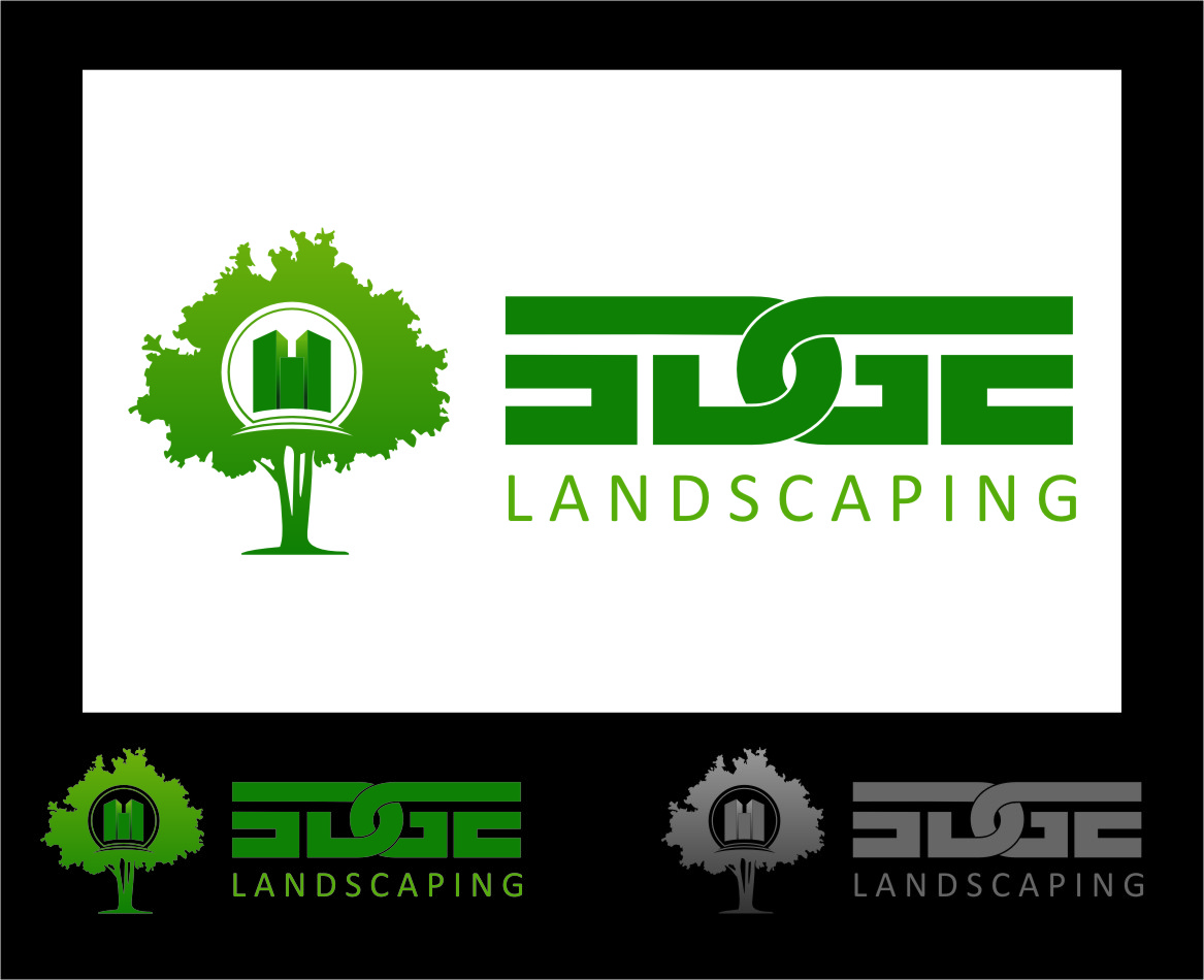 Logo Design by RoSyid Rono-Rene On Java - Entry No. 8 in the Logo Design Contest Inspiring Logo Design for Edge Landscaping.
