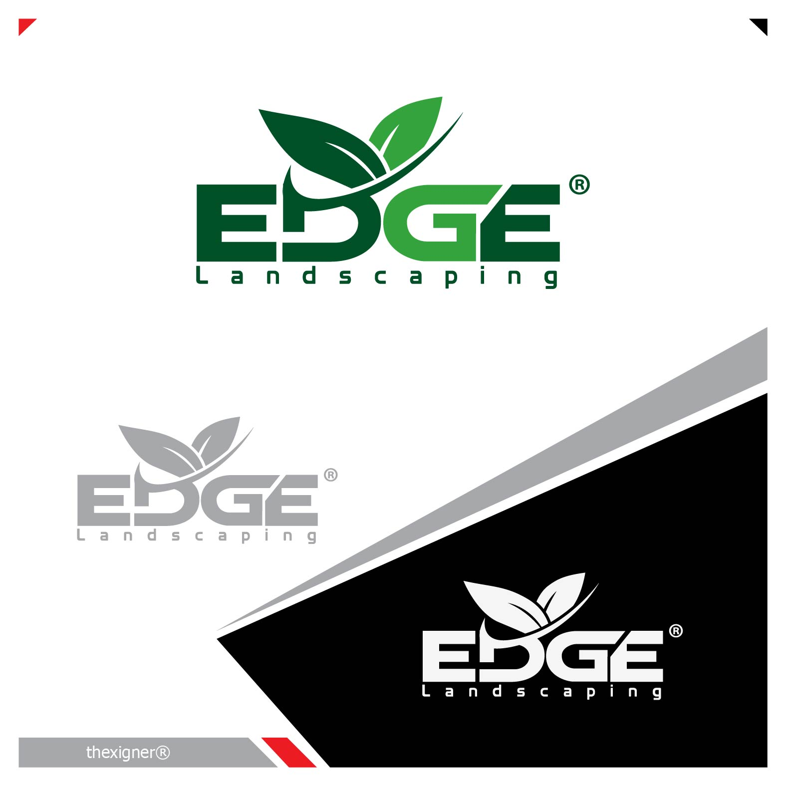 Logo Design by lagalag - Entry No. 13 in the Logo Design Contest Inspiring Logo Design for Edge Landscaping.