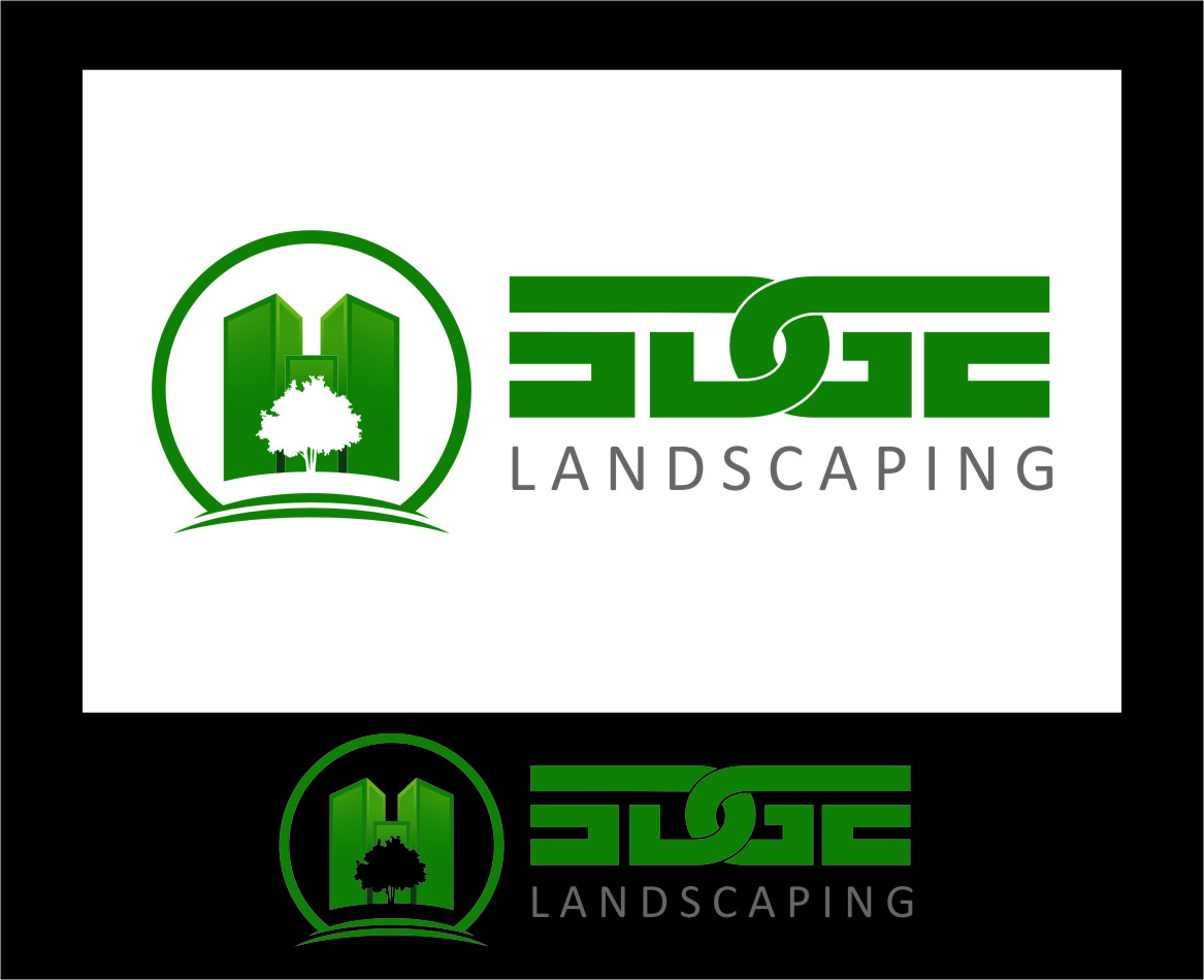 Logo Design by Ngepet_art - Entry No. 16 in the Logo Design Contest Inspiring Logo Design for Edge Landscaping.