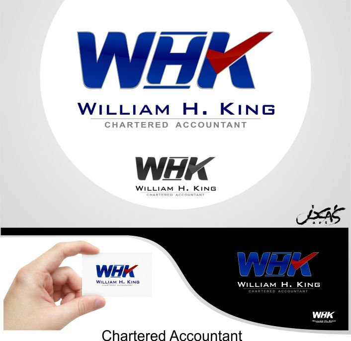 Logo Design by joca - Entry No. 2 in the Logo Design Contest New Logo Design for William H. King, Chartered Accountant.