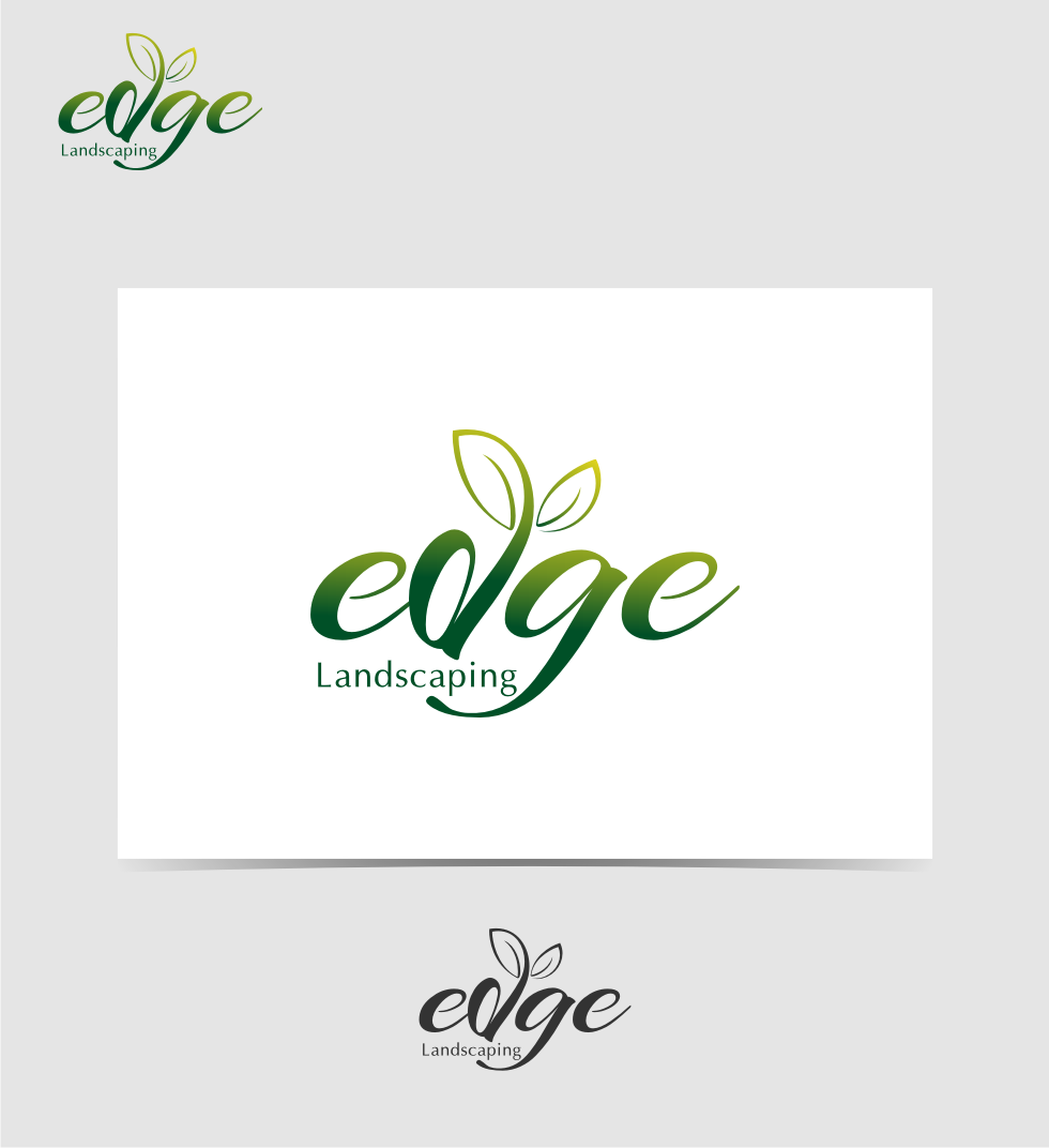 Logo Design by graphicleaf - Entry No. 38 in the Logo Design Contest Inspiring Logo Design for Edge Landscaping.