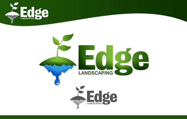 Logo Design by Respati Himawan - Entry No. 39 in the Logo Design Contest Inspiring Logo Design for Edge Landscaping.