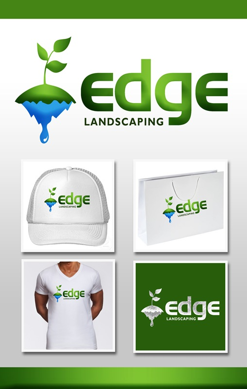Logo Design by Respati Himawan - Entry No. 53 in the Logo Design Contest Inspiring Logo Design for Edge Landscaping.