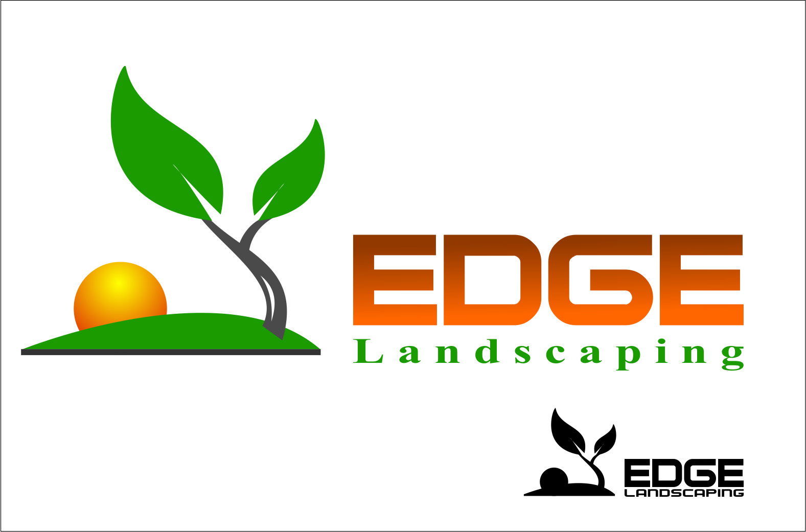 Logo Design by Agus Martoyo - Entry No. 54 in the Logo Design Contest Inspiring Logo Design for Edge Landscaping.