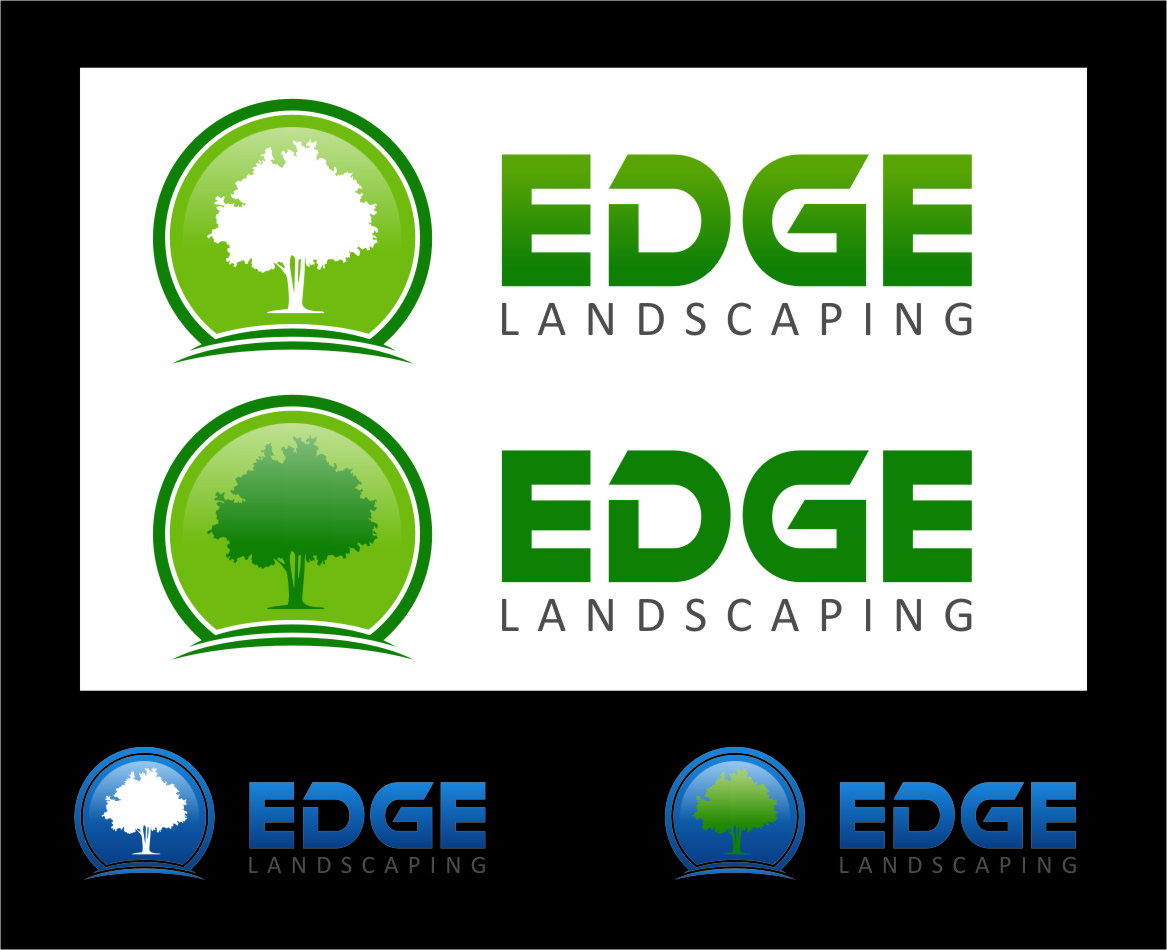 Logo Design by RasYa Muhammad Athaya - Entry No. 56 in the Logo Design Contest Inspiring Logo Design for Edge Landscaping.