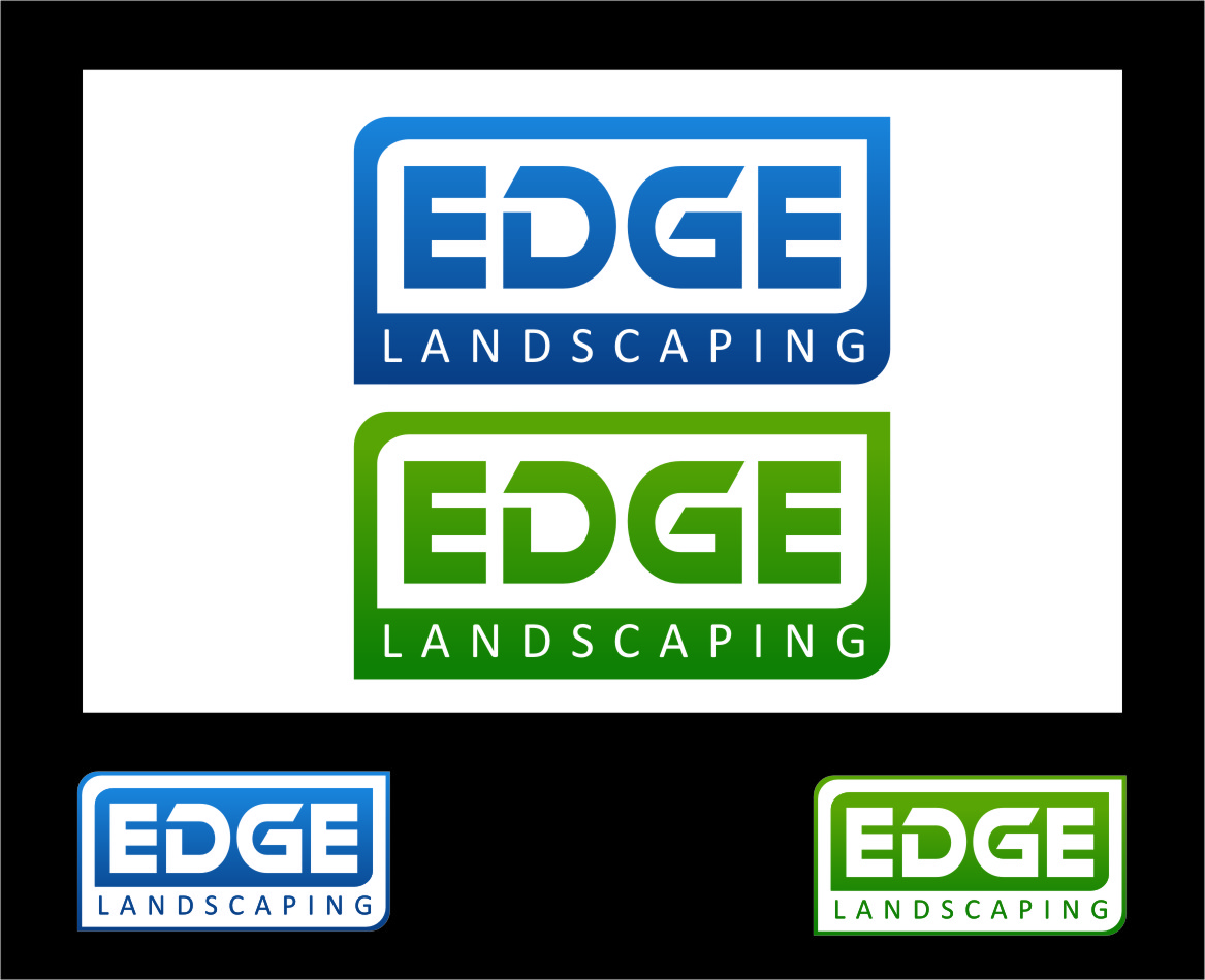 Logo Design by Ngepet_art - Entry No. 58 in the Logo Design Contest Inspiring Logo Design for Edge Landscaping.
