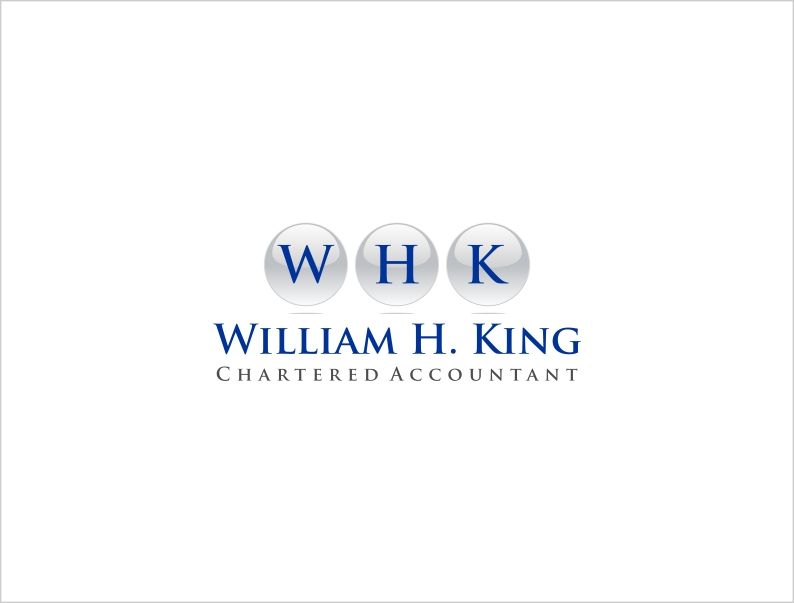 Logo Design by haidu - Entry No. 3 in the Logo Design Contest New Logo Design for William H. King, Chartered Accountant.