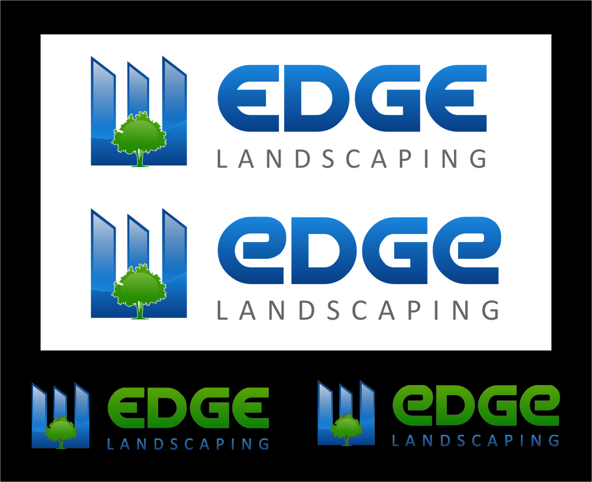 Logo Design by RasYa Muhammad Athaya - Entry No. 60 in the Logo Design Contest Inspiring Logo Design for Edge Landscaping.