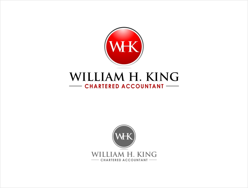 Logo Design by haidu - Entry No. 4 in the Logo Design Contest New Logo Design for William H. King, Chartered Accountant.