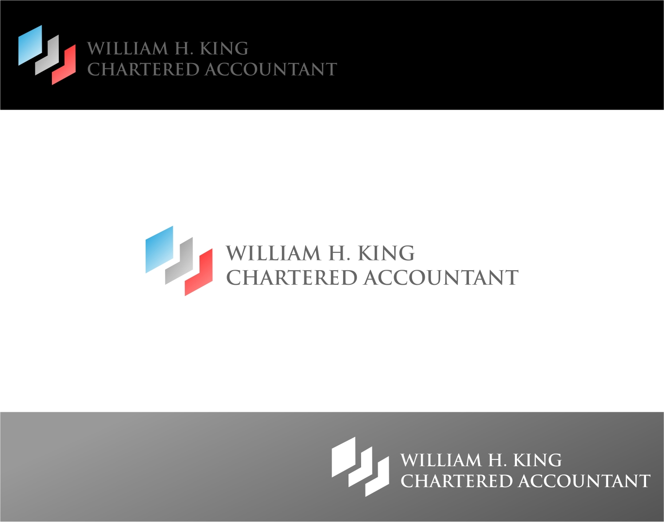 Logo Design by haidu - Entry No. 5 in the Logo Design Contest New Logo Design for William H. King, Chartered Accountant.