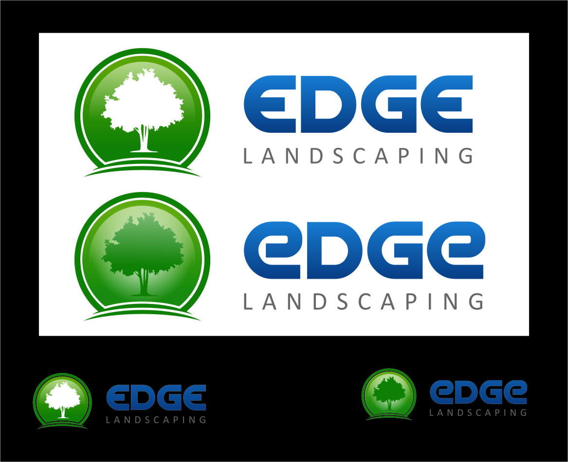 Logo Design by Ngepet_art - Entry No. 62 in the Logo Design Contest Inspiring Logo Design for Edge Landscaping.
