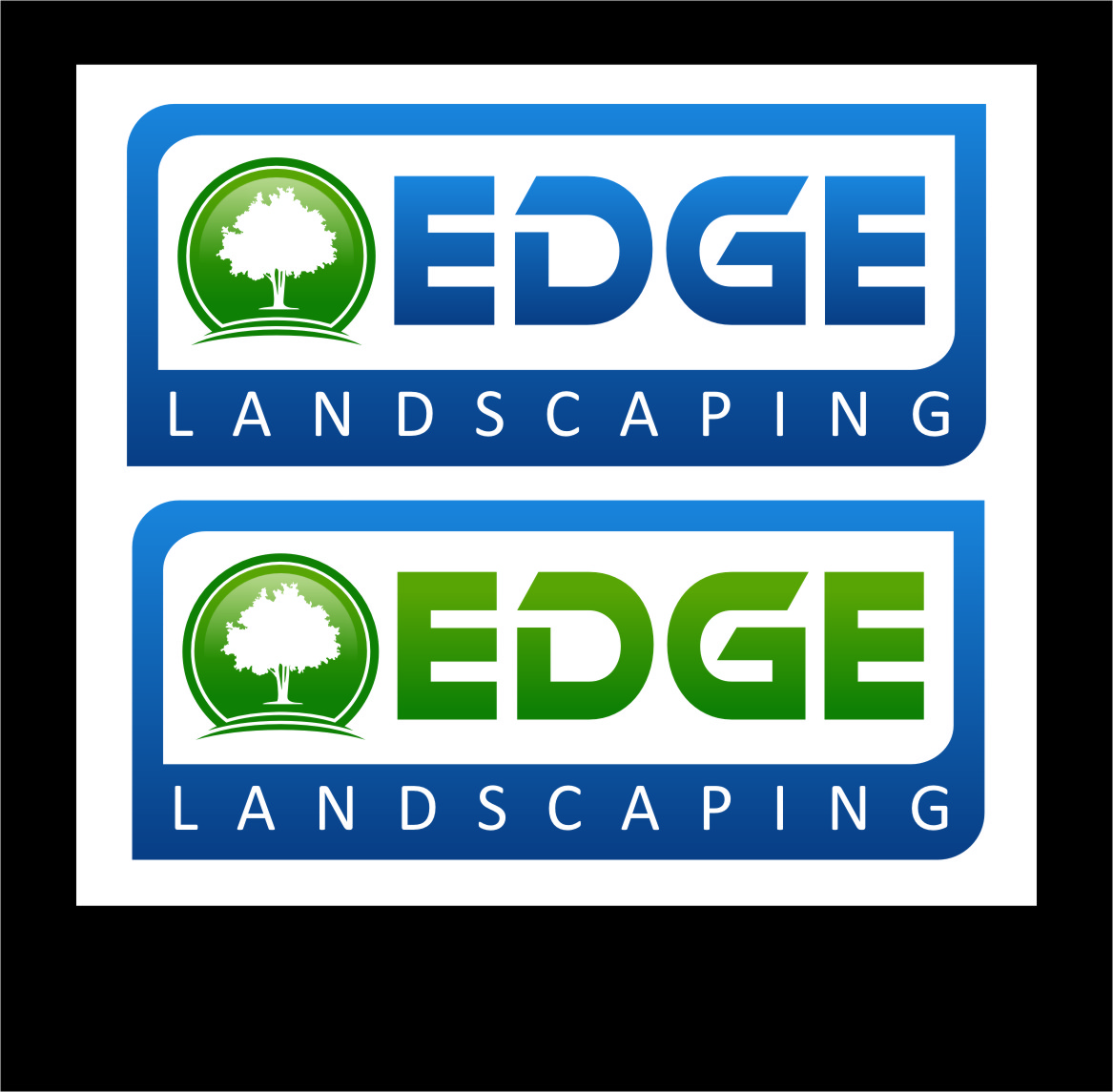 Logo Design by Ngepet_art - Entry No. 64 in the Logo Design Contest Inspiring Logo Design for Edge Landscaping.