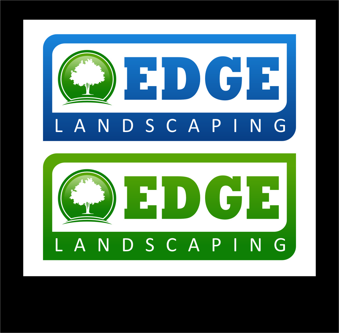 Logo Design by RasYa Muhammad Athaya - Entry No. 65 in the Logo Design Contest Inspiring Logo Design for Edge Landscaping.