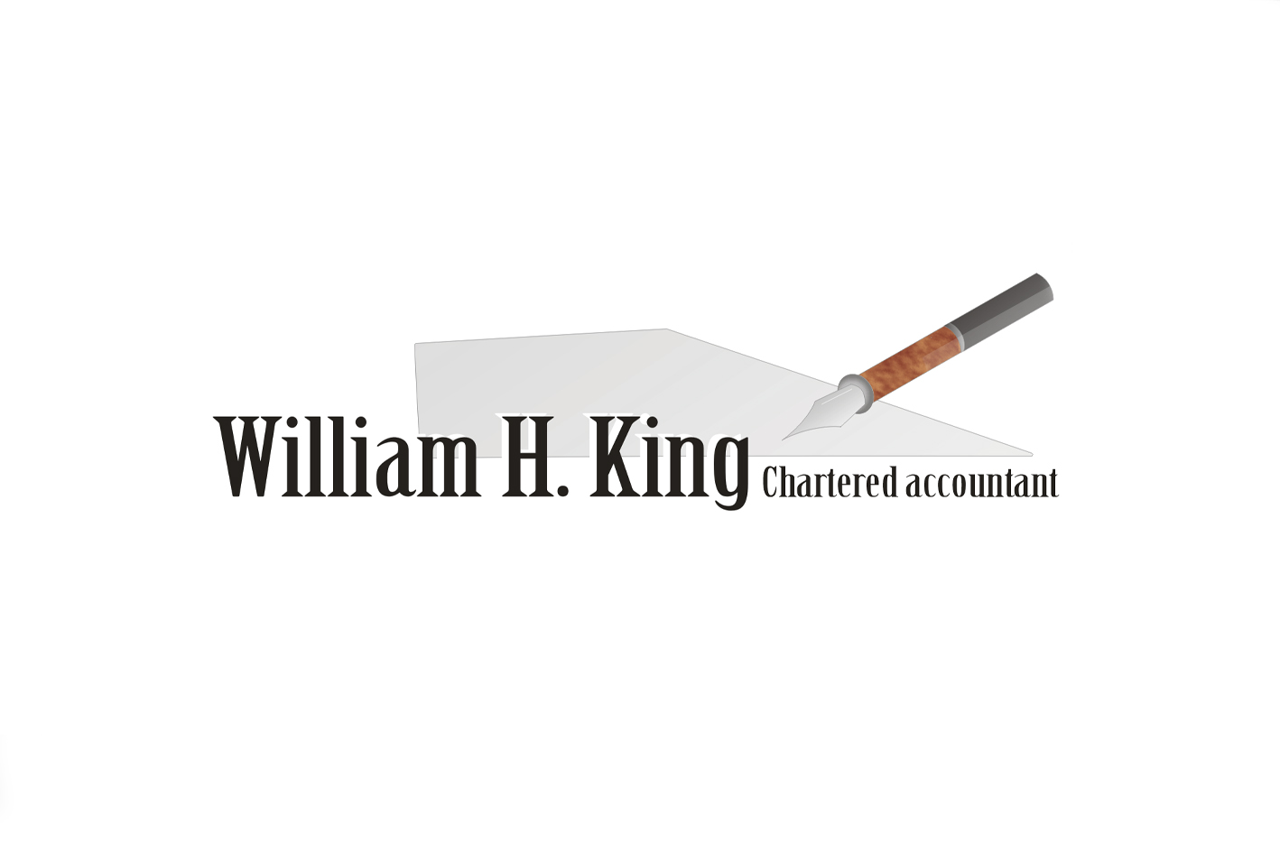 Logo Design by Kostas Vasiloglou - Entry No. 8 in the Logo Design Contest New Logo Design for William H. King, Chartered Accountant.