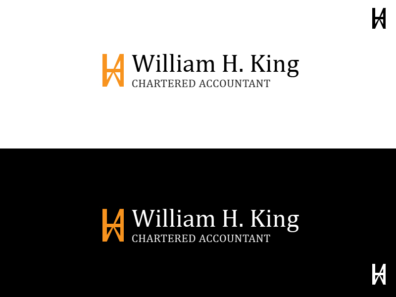 Logo Design by Raviteja Govindaraju - Entry No. 11 in the Logo Design Contest New Logo Design for William H. King, Chartered Accountant.