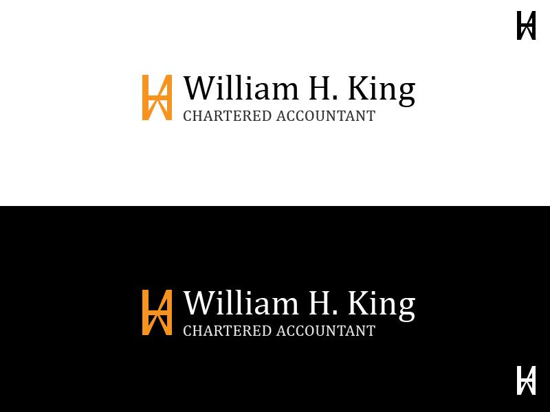 Logo Design by Raviteja Govindaraju - Entry No. 11 in the Logo Design Contest New Logo Design for William H. King, Chartered Accountant.