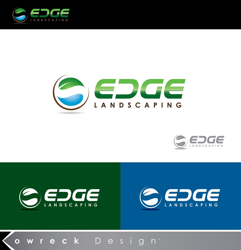 Logo Design by kowreck - Entry No. 70 in the Logo Design Contest Inspiring Logo Design for Edge Landscaping.