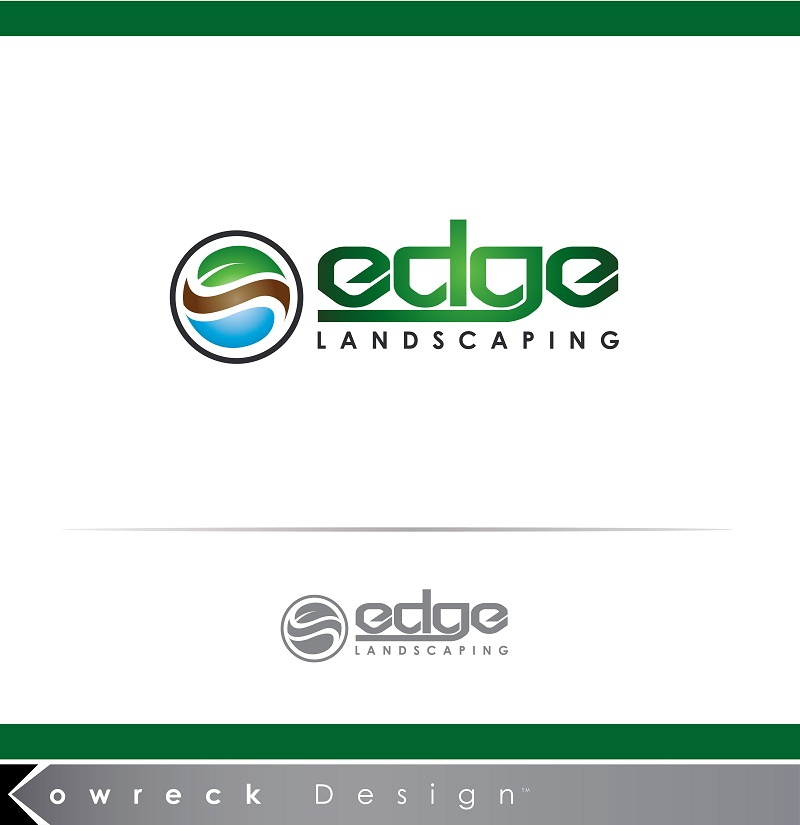 Logo Design by kowreck - Entry No. 71 in the Logo Design Contest Inspiring Logo Design for Edge Landscaping.