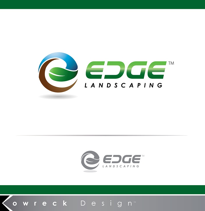 Logo Design by kowreck - Entry No. 73 in the Logo Design Contest Inspiring Logo Design for Edge Landscaping.