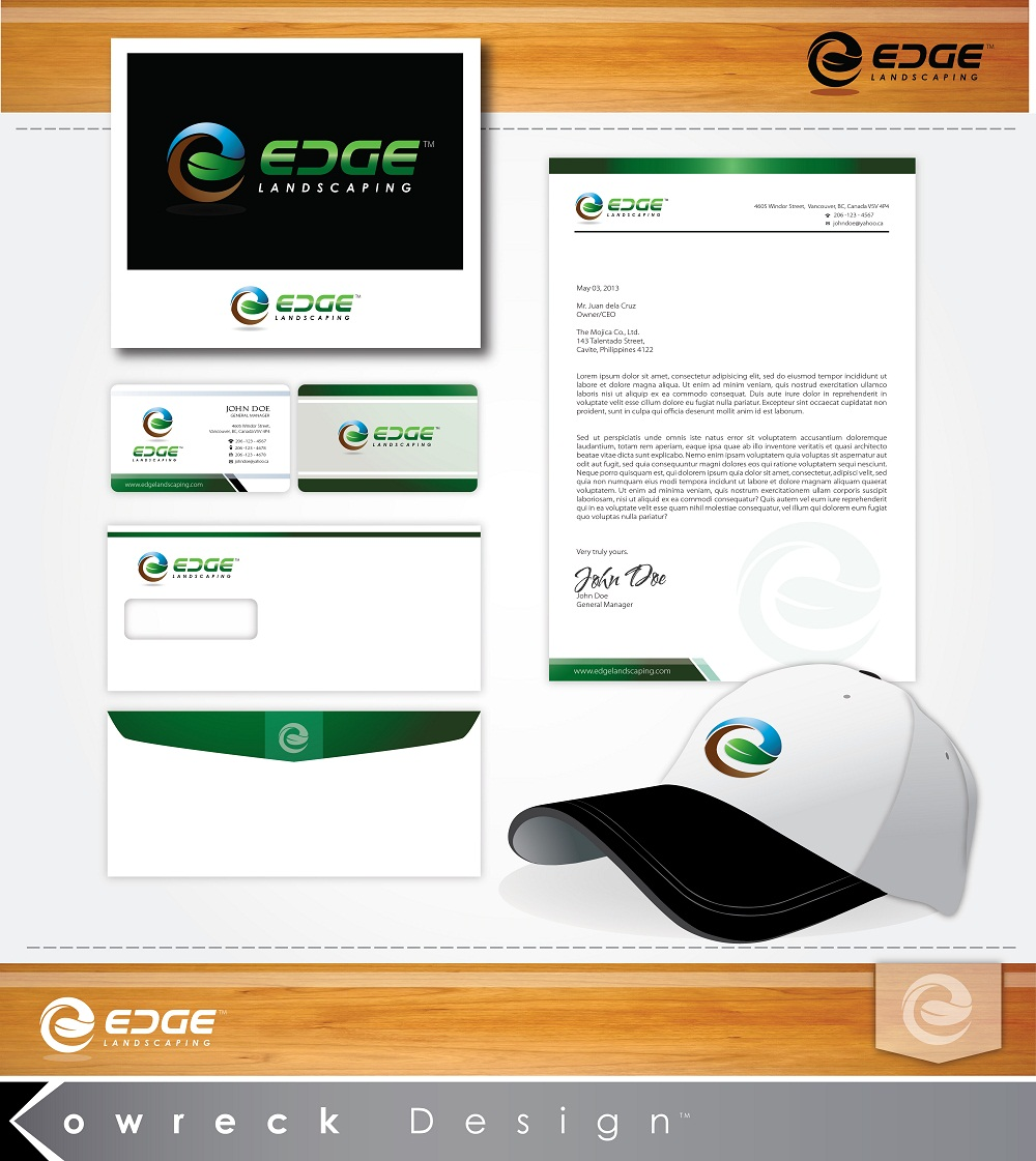Logo Design by kowreck - Entry No. 74 in the Logo Design Contest Inspiring Logo Design for Edge Landscaping.